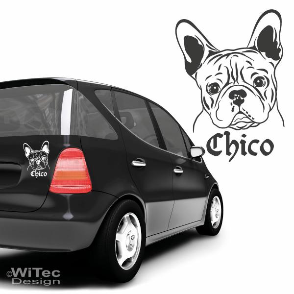 Auto Aufkleber Französische Bulldogge Autoaufkleber Hunde