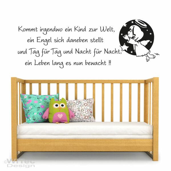 Wandaufkleber Engel Spruch Reim Wandtattoo Kinderzimmer - & # 9757
