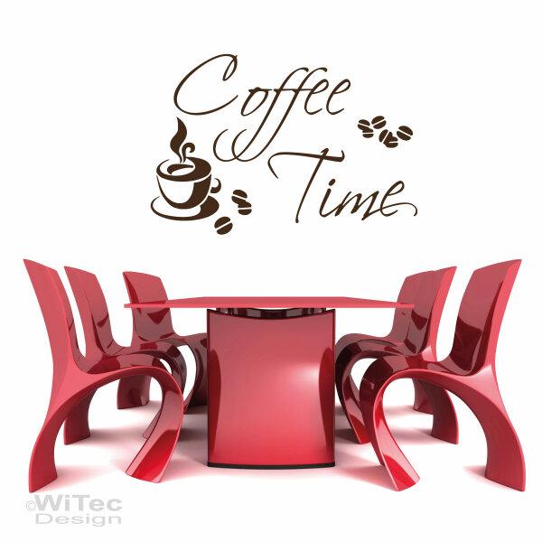 Wandaufkleber COFFEE TIME Kaffee Wandtattoo Küche