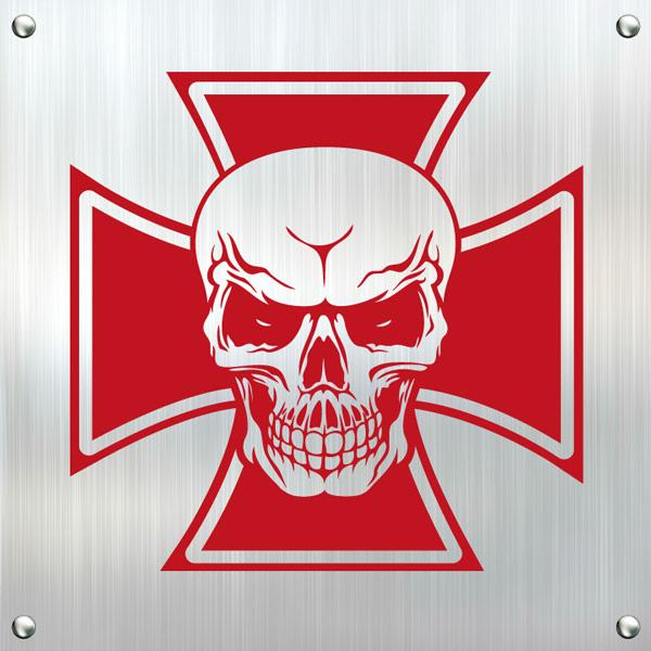 Autoaufkleber Eisernes Kreuz Totenkopf